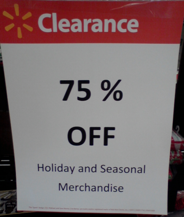 Christmas Clearance 75 Off.Walmart Christmas Clearance Is 75 Off In Stores