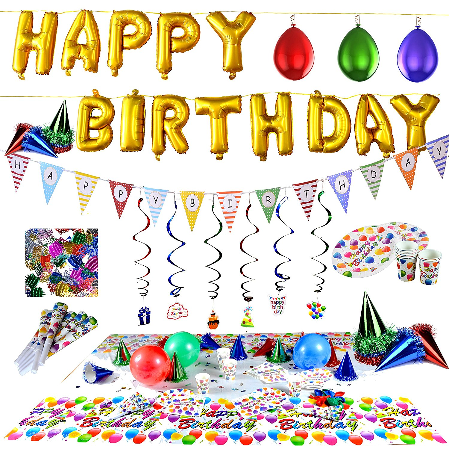 birthday party balloons Huge Party Pack   All the decorations you could ever need. GREAT  birthday party balloons